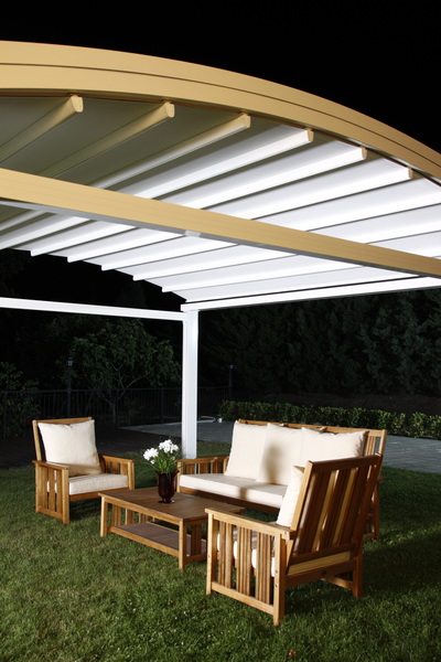 Garden Controlled either at the touch of a button by a motor (electronic) or by a hand-crank system, you extend your retractable awning when you need the shade.